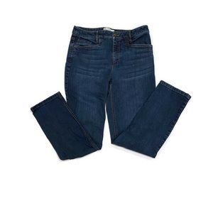 J Jill Smooth Fit/Slim Ankle Jeans. Size 6